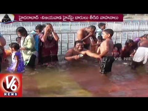 Krishna Pushkaralu | Devotees Huge Throng To Pushkar Ghats | Nalgonda | V6 News