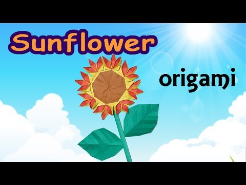 Origami Sunflower Step By Step How To Make A Paper Sunflower