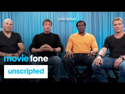 'Expendables 3' | Unscripted | Sylvester Stallone, Wesley Snipes, Dolph Lundgren, Randy Couture