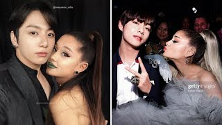 BTS & Ariana Grande moments 4