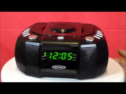 jensen jcr 310 am fm stereo dual alarm clock radio with cd. Black Bedroom Furniture Sets. Home Design Ideas