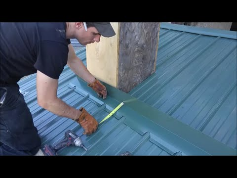 Metal Roofing Chimney Flashing Kit Diy Video Mid Maine