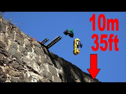 lego-cargo-train-falling-down-from-castle-wall