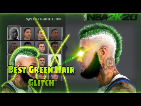 BEST GREEN HAIR TUTORIAL GLITCH IN NBA 2K20!!! 😱 LOOK LIKE A GREEN HAIRED DEMON !!!