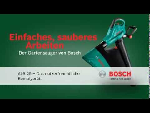 bosch laubsauger als 25 youtube. Black Bedroom Furniture Sets. Home Design Ideas