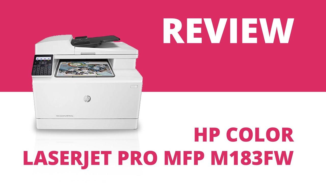 Hp Color Laserjet Pro Mfp M183fw A4 Colour Multifunction Laser Printer Youtube