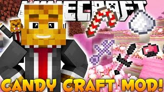 Minecraft EPIC CANDY WORLD Mod - More Candy, BOSSES, and Weapons - (CandyCraft) Mod Showcase