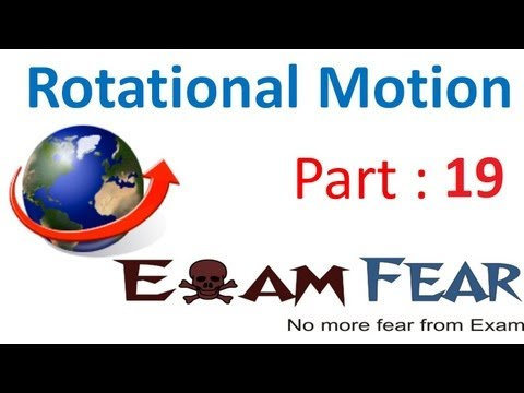 Physics Rotational Motion part 19 (Moment of inertia) CBSE class 11
