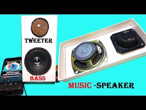 Haw to make Bass audio Music speaker  at home