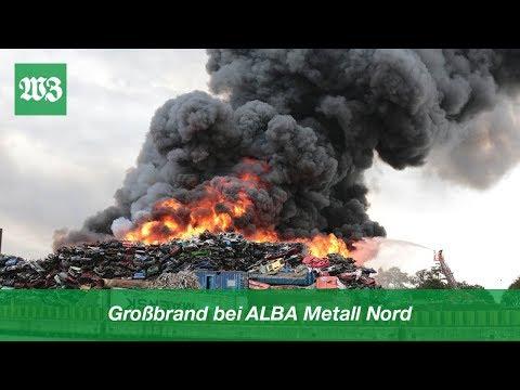 Großbrand Bei ALBA Metall Nord | Wilhelmshavener Zeitung
