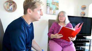Colin and Support Worker
