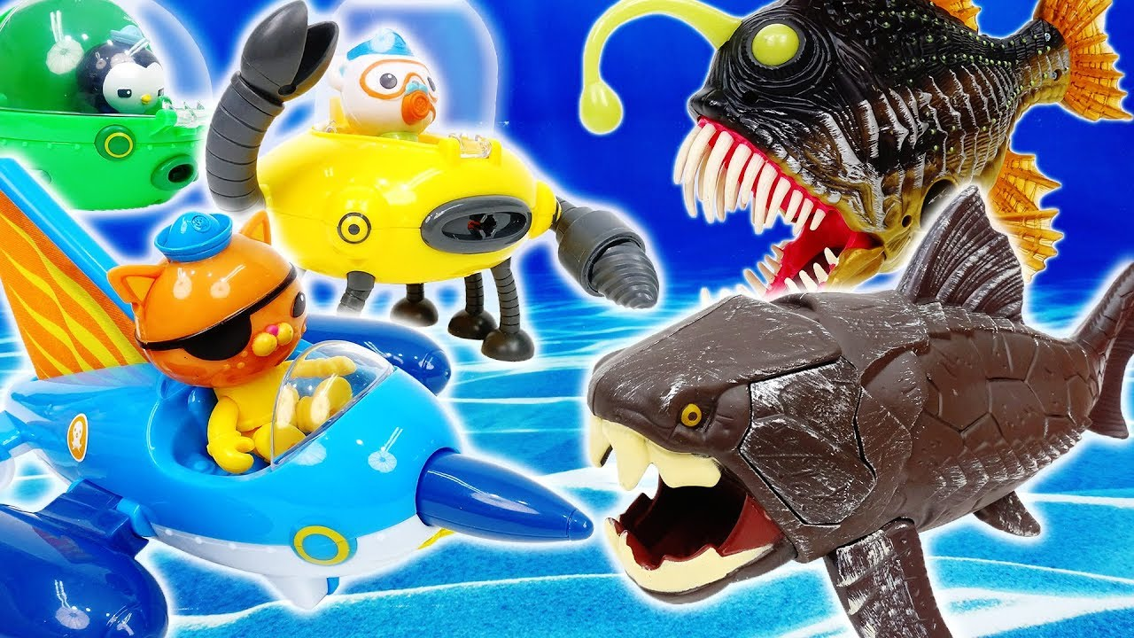 Monster Fishes Are Coming~! Octonauts, Get In Your Gups  - ToyMart TV