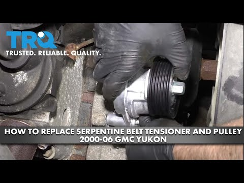 How to Replace Serpentine Belt Tensioner and Pulley 2003-06 GMC Yukon
