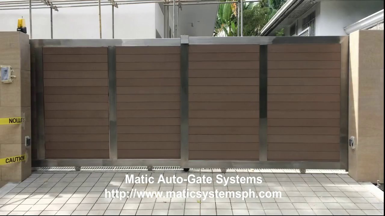 Double run automatic gate sliding gate youtube - Sliding main gate design for home ...