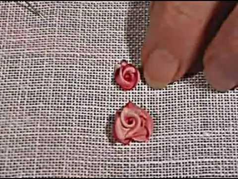 Hướng dẫn thêu hoa hồng bằng ruy băng   Lindo Club
