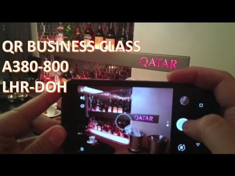 ✈ Business Class Experience | Qatar Airways | A380-800 | London to Doha