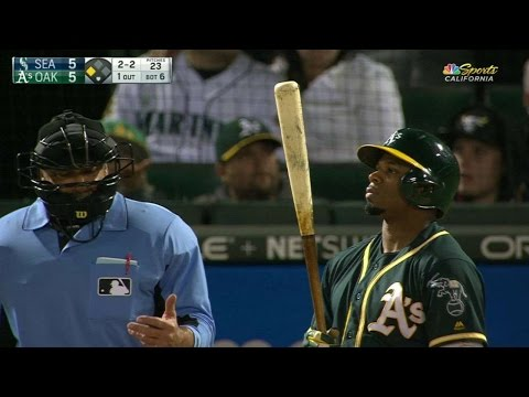 Umpire rings up R. Davis on strike two