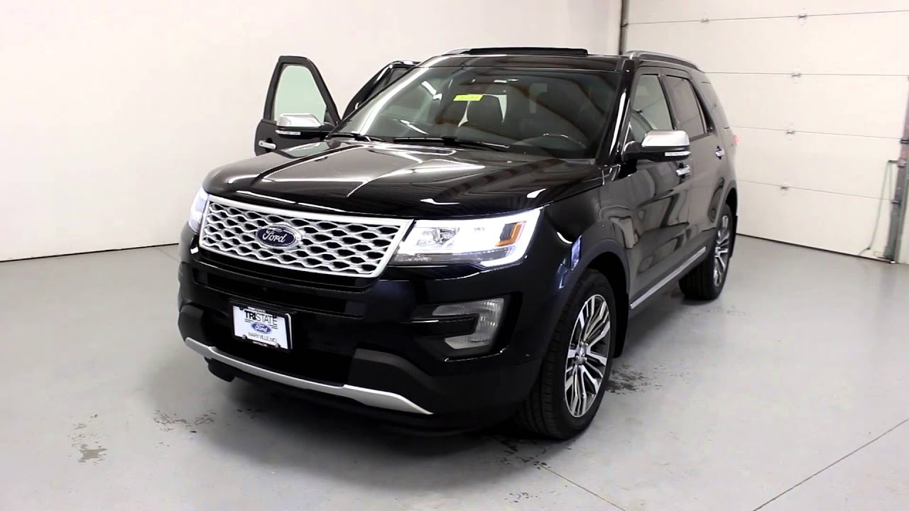 Black Ford Explorer >> Tri State Quick Looks 2016 Ford Explorer Platinum Black Youtube