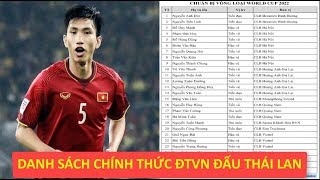 Ngoài tất cả dự đoán, đây mới là danh sách chính thức 27 cầu thủ ĐTVN cho đại chiến với Thái Lan