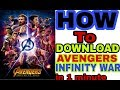 How to Download Avengers Infinity War full 720p hd |dual audio Hindi