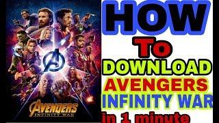 How to Download Avengers Infinity War full 720p hd |dual audio Hindi