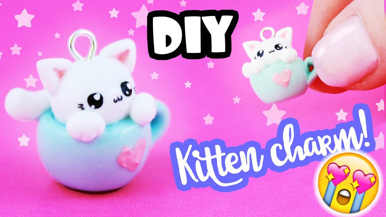 Diy Kitten In Mug Charm So Cute Kawaii Friday