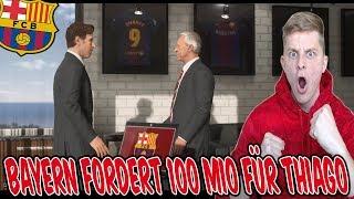 BAYERN will 100.000.000€ für THIAGO haben! ⚽ Fifa 18 Karrieremodus Fc Barcelona 04