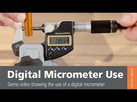 Digital Micrometer Use from Mitutoyo