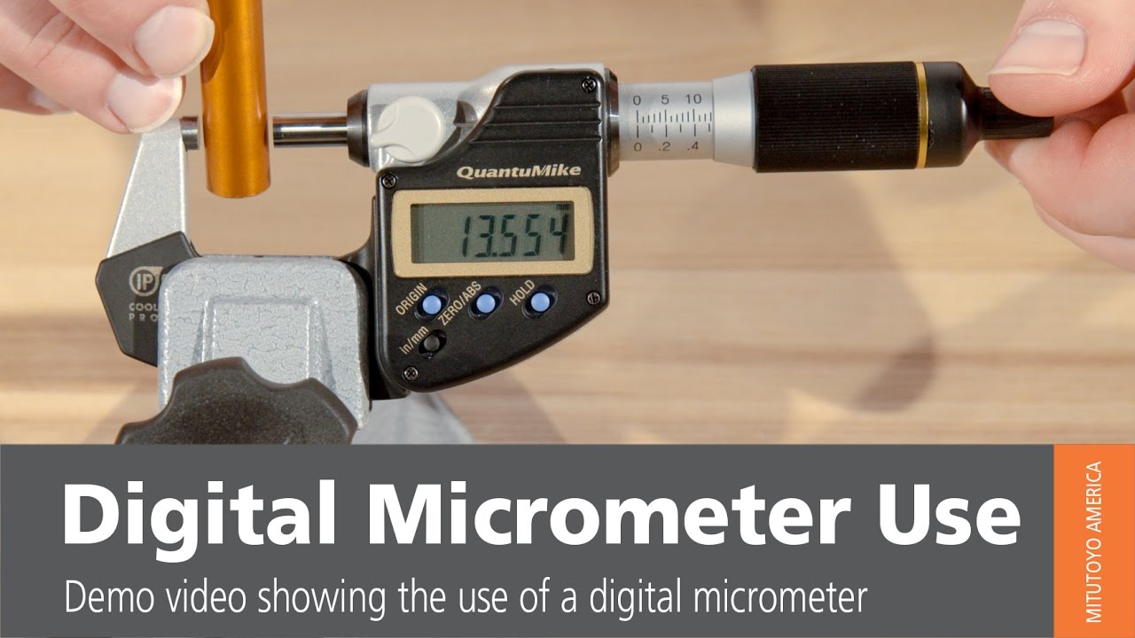 digital micrometer use from mitutoyo how to use a. Black Bedroom Furniture Sets. Home Design Ideas