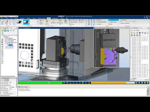 VERICUT CNC Simulation of a Makino A61