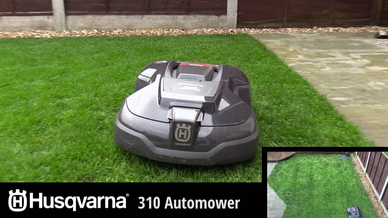 husqvarna automower 310 automatic garden lawn mower brief overview youtube. Black Bedroom Furniture Sets. Home Design Ideas