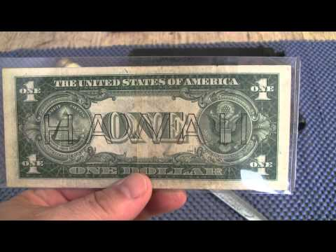 hawaii dollar bill 1935 ( THE ATTACK IN PEARL HARBOR HAPPENED December 7, 1941)