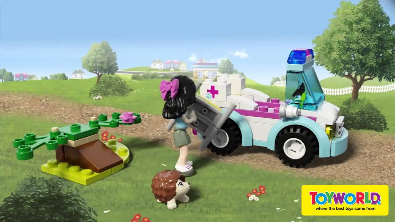 how to build lego friends vet ambulance