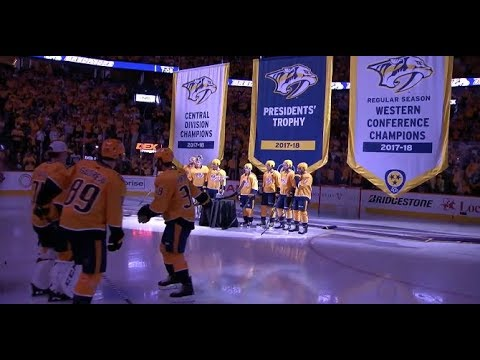 Nashville Predators raise banners for successful 2017-18 season