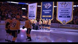 Nashville Predators raise banners for successful 2017-18 season