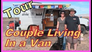 TOUR of a Couple Living in a Van: Ann and Guy