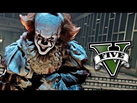 GTA V MODS: (IT) PENNYWISE, EL PAYASO ASESINO !! - RobleisIUTU