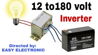 How to make 12 volt to 180 volt inverter[Hindi]. EASY ELECTRONIC