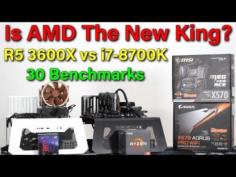 Ryzen 5 3600X vs i7-8700K — 30 Benchmarks — A New King?