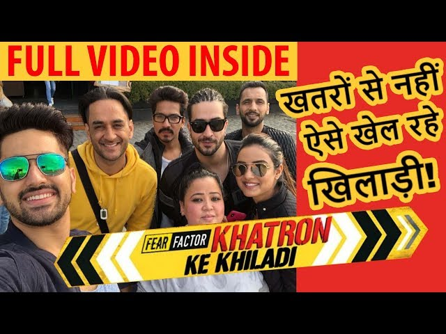 Vikas Gupta, Zain Imam, Jasmin Bhsin, Avika Gor की Khatron Ke Khiladi 9 के सेट पर मस्ती