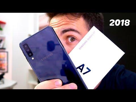 Unboxing del Samsung Galaxy A7 2018 Y SUS 4 CÁMARAS!!