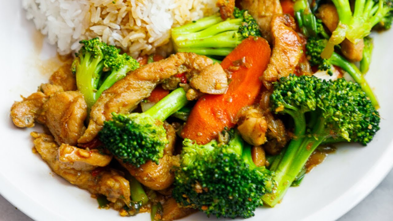 Chicken And Broccoli With Garlic Sauce Youtube