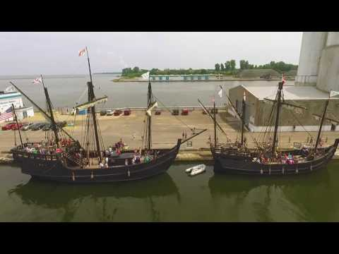 Columbus replica ships. Oswego NY.