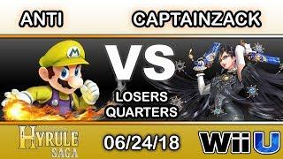 Hyrule Saga - IMT.RZR | ANTi (Mario) Vs. CaptainZack (Bayonetta) Losers Quarters - Smash 4