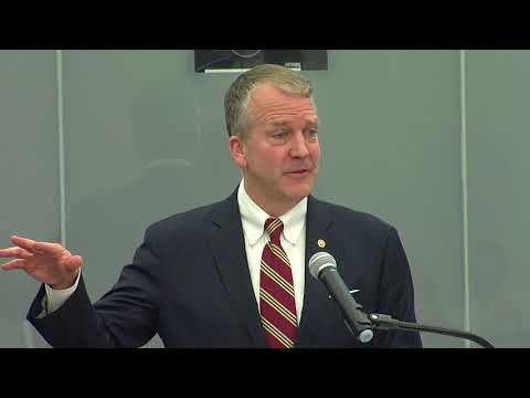 Senator Dan Sullivan speaks at the ASG launch of The World Turned Upside Down