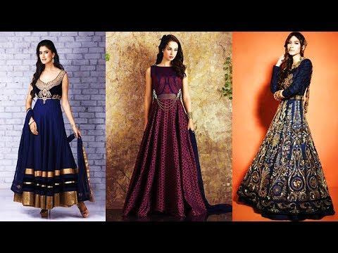 Long Anarkali Gown Dress Designs 2017 Part 01