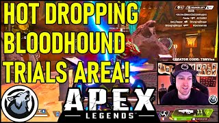 VISS HOT DROPPING BLOODHOUND TRAILS AREA! APEX LEGENDS SEASON 4