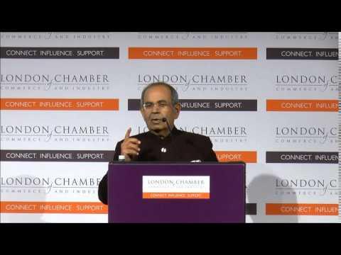 Billionaire Gopichand Hinduja speaks at the Asian Business Association annual dinner