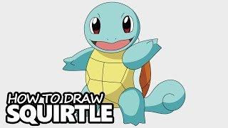 How to Draw Squirtle from Pokemon - Easy Step by Step Video Lesson