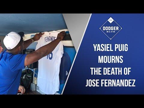 Yasiel Puig Mourns Death Of Close Friend Jose Fernandez